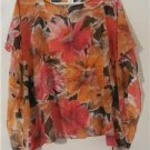 Women Poncho Fashion Flower Cover Up Top Blouse Wedding Beach One Size S-XL