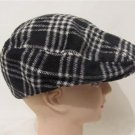 Cabbie New Men Woman Wool Plaid Ivy Golf Newsboy Driving Winter Cap Coat Hat Gif