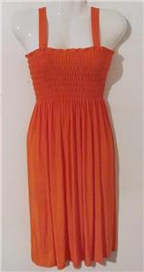 Brand New Women Elastic Smocked Bodice Sundress Summer Cover Up Beach Skirt M/L
