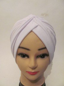 Brand New Women White Head Cover Up Turban Derby  Wedding Church Beach Dress Hat