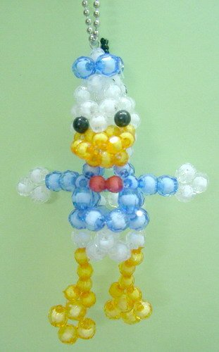Donald Duck Crystal Beads Handmade Key Chain Ring