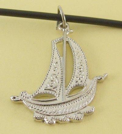 Sailboat Pendant Charm Rubber Chain Necklace