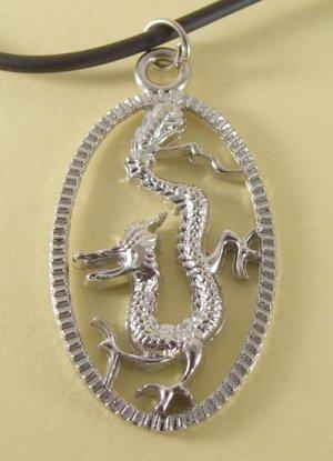 Dragon Pendant Charm Rubber Chain  Men Necklace