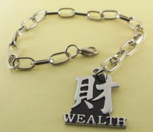 WEALTH  Rhodium Anklet / Bracelet