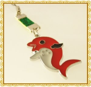 Dolphin,  Fish  Animal  Mobile  Key Chain,  Cell  Phone Charm