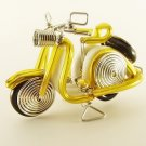 Yellow  Vespa  Motorbike  Motorcycle  Aluminium  Wire  Model  Handmade  Craft