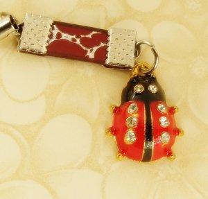 Ladybird  Ladybug  Mobile Key Chain, Cell Phone Charm