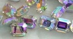 Swarovski Octagon Rhinestones CrystalAB