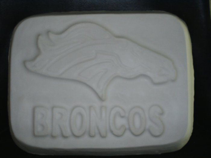 Plaster Bronco Plaque