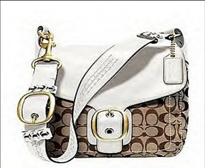 COACH BLEECKER SIGNATURE LARGE FLAP