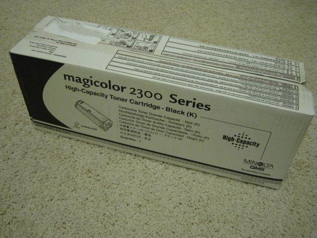 Minolta QMS Magiccolor 2300 Series High-Capacity Toner Cartridge - Black (K)