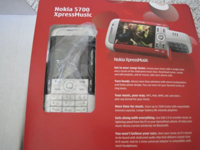 Nokia 5700 Unlocked 3G Cell Phone 2MP MP3 Stereo Video