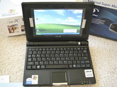 Asus EEE PC 4G 900Mhz Webcam Wifi + Dvd Burner