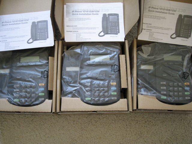 3 units Nortel IP Phones 1210