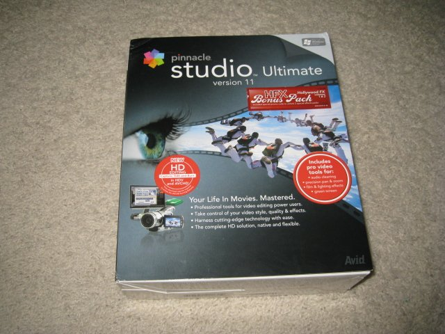 Pinnacle Studio Ultimate Version 11 HD Editing and Hollywood FX