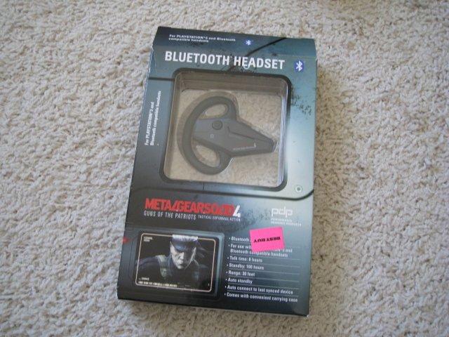 Playstation 3 Metal Gear Solid Bluetooth Headset