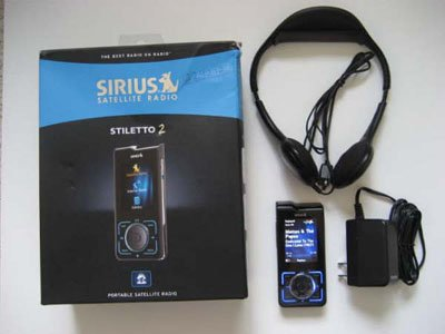 Sirius Satellite Radio Stiletto 2 MP3 Radio Player