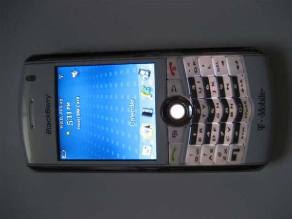 T-Mobile Blackberry Pearl White Edition 8100 Mobile Phone PDA SmartPhone Email MP3