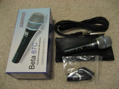 Shure Beta 87C Professional Vocal Mic Microphone