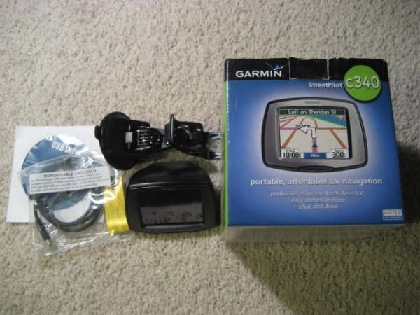 Garmin Streetpilot C340 GPS Portable Vehicle Navigation System