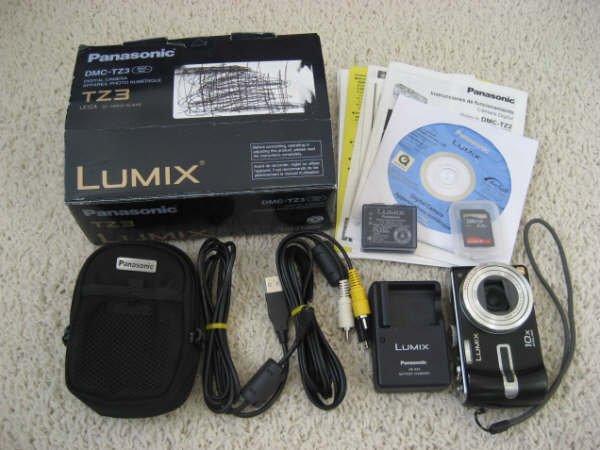 Panasonic Lumix DMC-TZ3 K 7.2MP Digital Camera with 10x Optical Image Stabilized Zoom (Black)