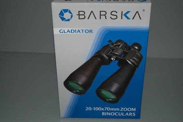 New Barska Gladiator 20-100x70 Zoom Binoculars Black