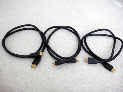 Lot of 3 Dynex DX-AV001 HDMI Video Cable 3ft for HD TV LCD Xbox 360 PS3 Bluray