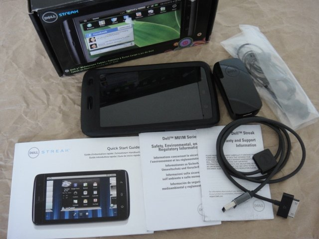 AT&T Dell Streak 5 Android Tablet GSM 3G Wide Screen Gorlla Glass 1Ghz 5.0MP with Otterbox Case