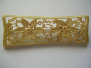 Pre-Ban Delicate Ivory or Bone Flower Pin