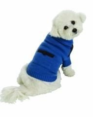 Medium Dog Suede Patch Sweater - Blue