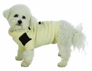 Small Dog Suede Patch Sweater - Cream