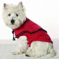 X Small Dog Capelet Sweater - Red