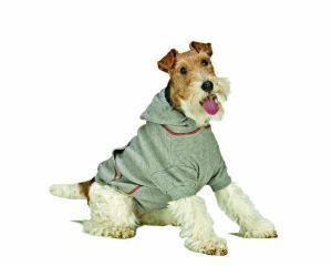 XXX Large Dog Thermal Hoodie - Gray