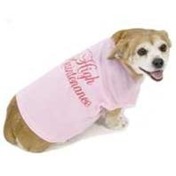 X Small Dog T-Shirt Hi Maintenance - Pink