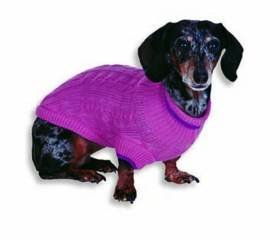 Small Dog Cable Sweater - Pink