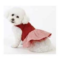 Medium Dog Picnic Dress - Red