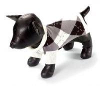 X Large Dog Argyle Classic Sweater - Black/Charcoal