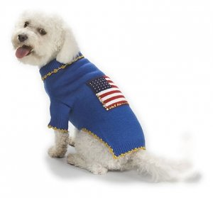 X Small Dog All American Sweater - Blue