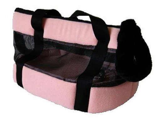 Small Breed Faux Suede Tote Dog Carrier - Pink