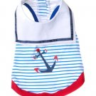 X Small Dog Sailor Tee Shirt - Blue