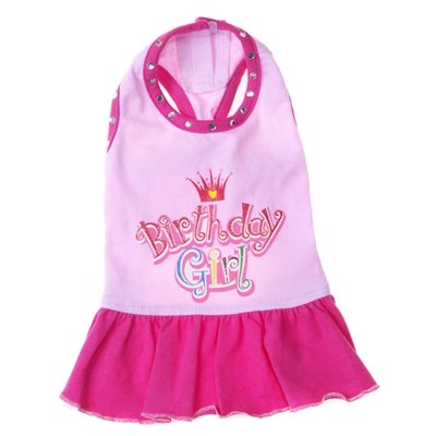 X Large Dog Birthday Girl Dress - Pink