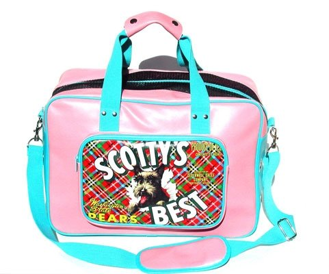 Large Scoty's Best Vintage Americana Dog Carrier