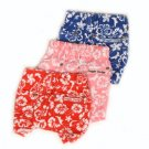 Large Hawaiian Print Board Dog Shorts - Blue
