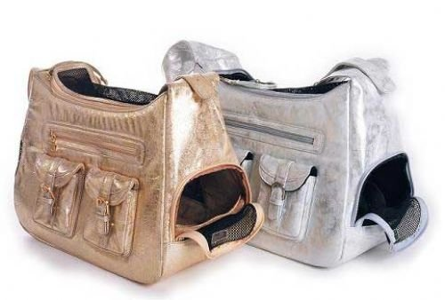 Hollywood Dog Carrier - Gold Metallic