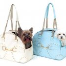 Soho Ostrich Dog Carrier - Light Blue