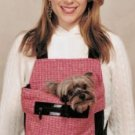 Pink & White Tweed Boucle Dog Pouch Carrier