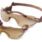 M Doggles - Copper K9 Optix With Gold Mirror Paw Lens