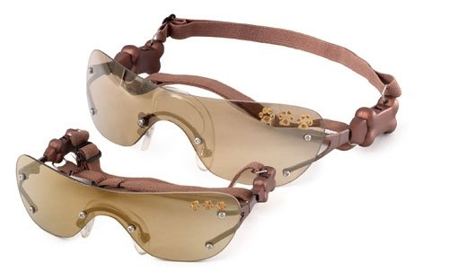 L Doggles - Copper K9 Optix With Gold Mirror Paw Lens