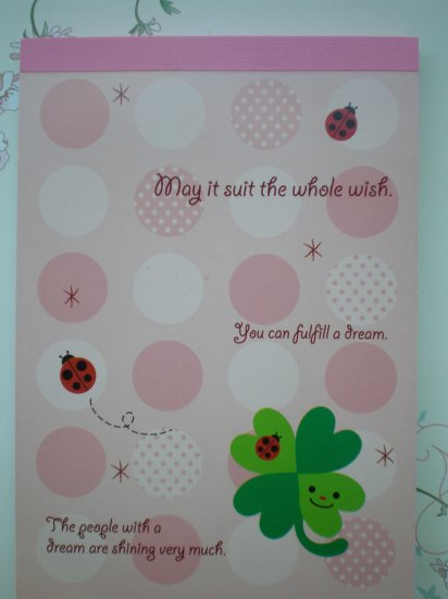 Clover and Ladybugs Memo Pad