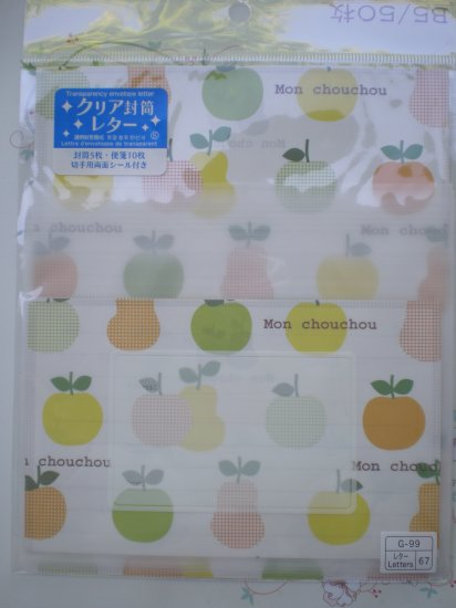 Fruits Semi-transparent Letter Set